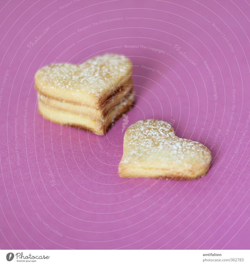 Vierfachherz Teigwaren Backwaren Plätzchen Ernährung Zeichen Herz Duft Freundlichkeit frisch schön süß violett Gefühle Glück Lebensfreude Vorfreude trösten