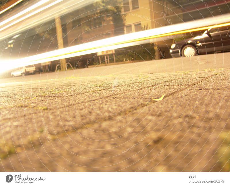 Schnelle Nacht Verkehr Bus Schwanz unterwegs spontan