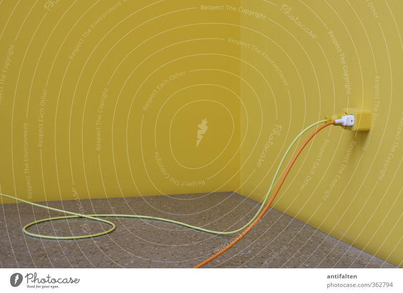 Yellow Strom Kabel Energiewirtschaft Kunst Ausstellung Museum Kunstwerk Schlaufe Stecker Netzstecker Steckdose Linie eckig positiv rund gelb grau orange