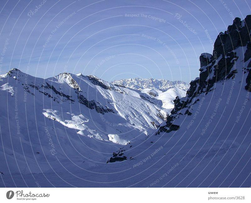 white alps Österreich Gipfel Gletscher kalt Winter Europa Alpen gastein Berge u. Gebirge Schnee Stein Himmel