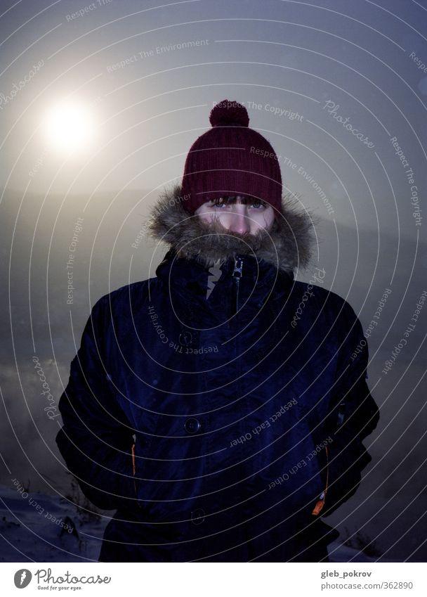 Mensch Himmel Natur Ferien & Urlaub & Reisen Jugendliche Sonne Junge Frau Winter 18-30 Jahre Gesicht kalt Erwachsene Auge feminin Freiheit Eis