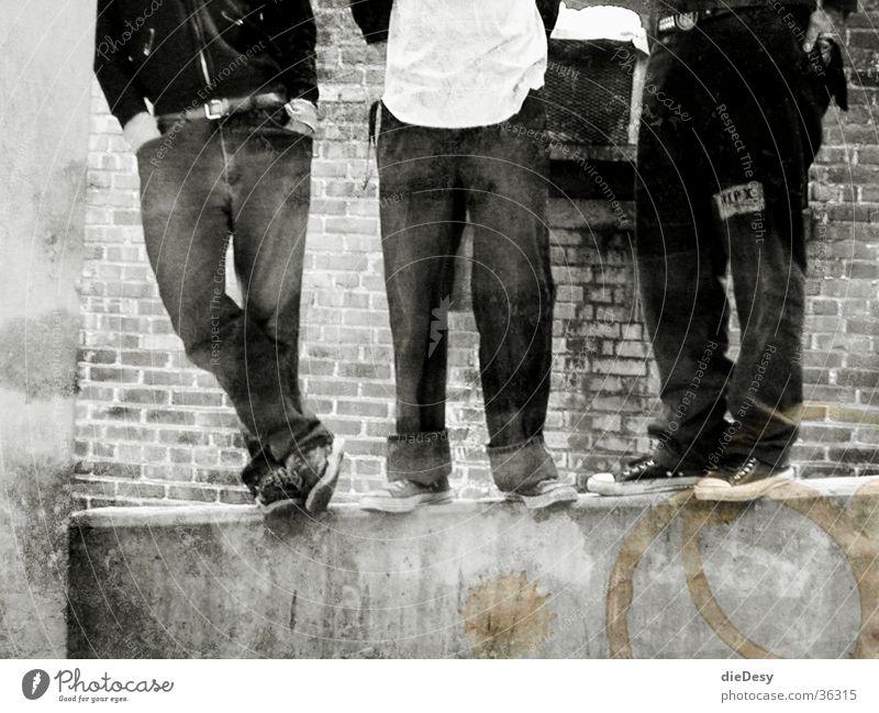 Old School Punks Menschengruppe Rockmusik Chucks Paddel old-school Musik