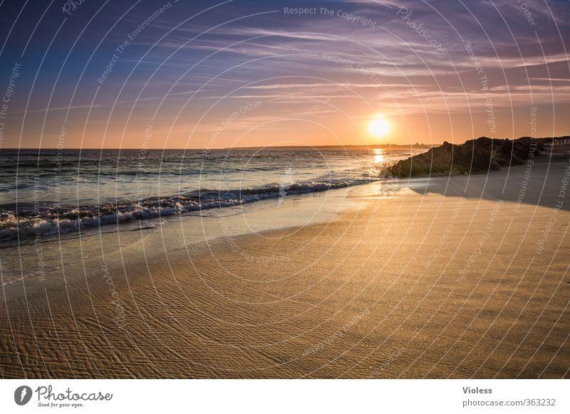 ...relax Ferien & Urlaub & Reisen Sommer Sonne Meer Erholung Landschaft ruhig Freude Strand Ferne Küste Freiheit Wellen leuchten Schönes Wetter Romantik