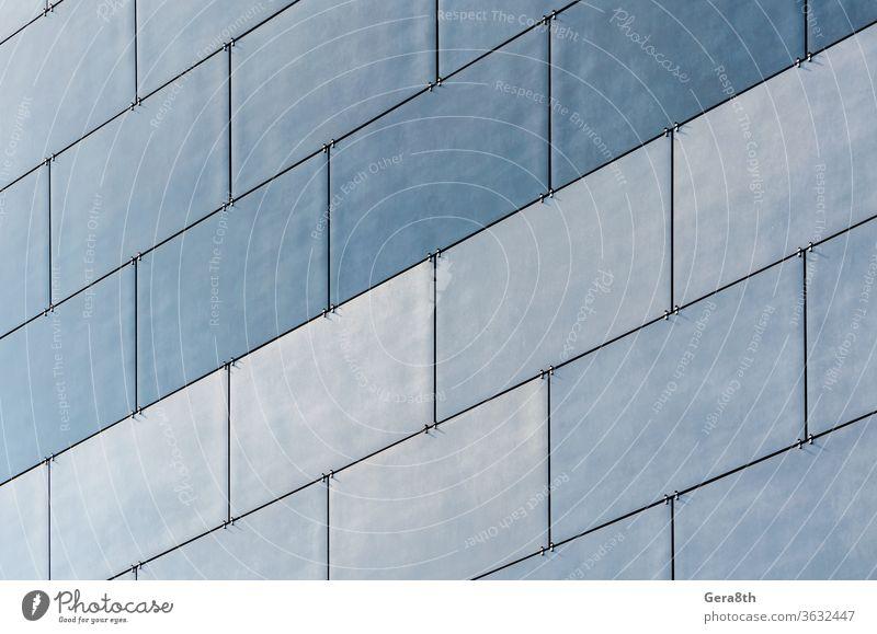 blaue Wand Hintergrundmuster eines modernen Gebäudes abstrakt architektonisch Architektur Klotz Business Großstadt Farbe Anschluss Konstruktion Design