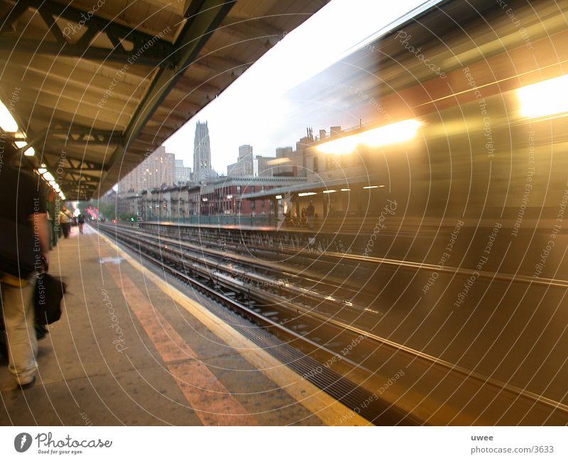 125th street subway New York City U-Bahn 1 train moving car