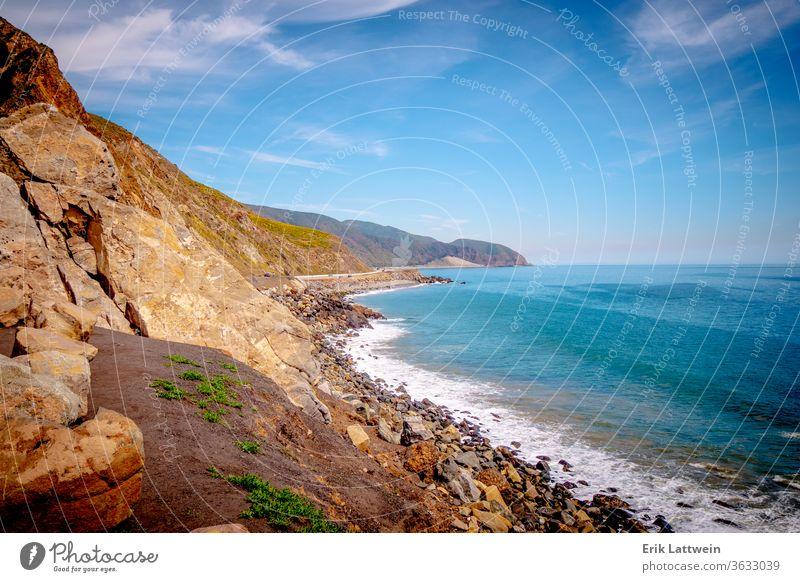 Exklusive Villen am Strand von Malibu am Pacific Coast Highway Kalifornien Küste Meer Sand MEER Wasser Himmel Sommer USA blau Landschaft reisen Engel