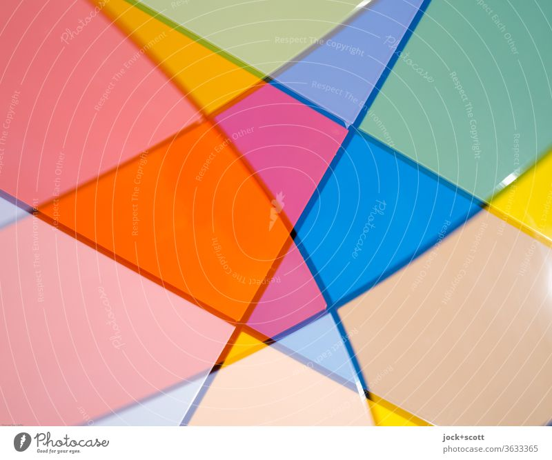 Formen, Farben mit Schwung farbenfroh Linien abstrakt Strukturen & Formen Muster Genauigkeit Netzwerk Einigkeit Mischung Silhouette Illusion Farbenspiel