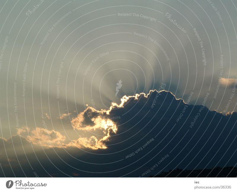 Sonnenuntergang in Burgenland Bundesland Burgenland Wolken Luft Himmel