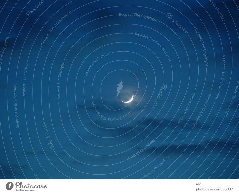 Mond Himmel blau dunkel