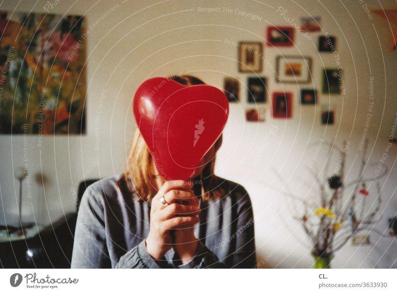 herzlichen glückwunsch Herz Luftballon Geburtstag rot herzförmig Herzlichen Glückwunsch Wohnung Frau Dekoration & Verzierung Liebe Valentinstag Verliebtheit