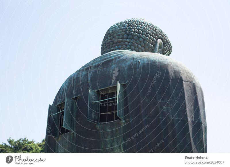 Rückenfenster des begehbaren Buddha Amitabha, über 13 Meter hoch Japan Tempel Kamakura Buddhismus Religion & Glaube Asien Kultur Außenaufnahme buddhistisch