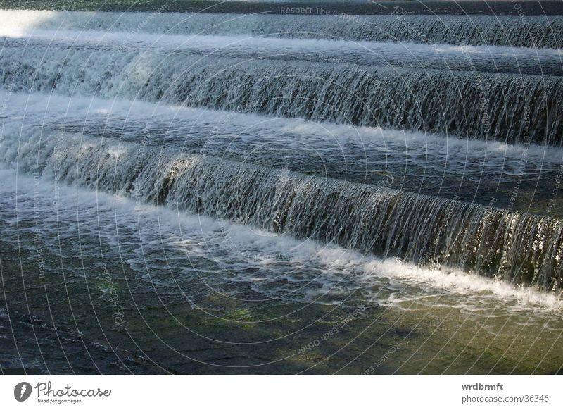 Wasserfall Schaum Wellen Architektur Fluss