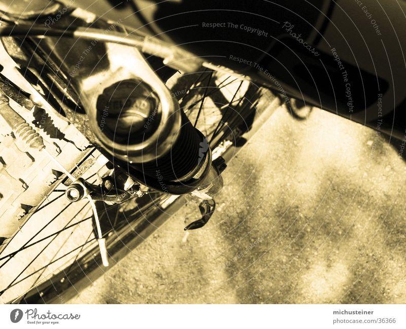 Bike Makro Fahrrad Stil Duplex Federgabel Makroaufnahme Speichen