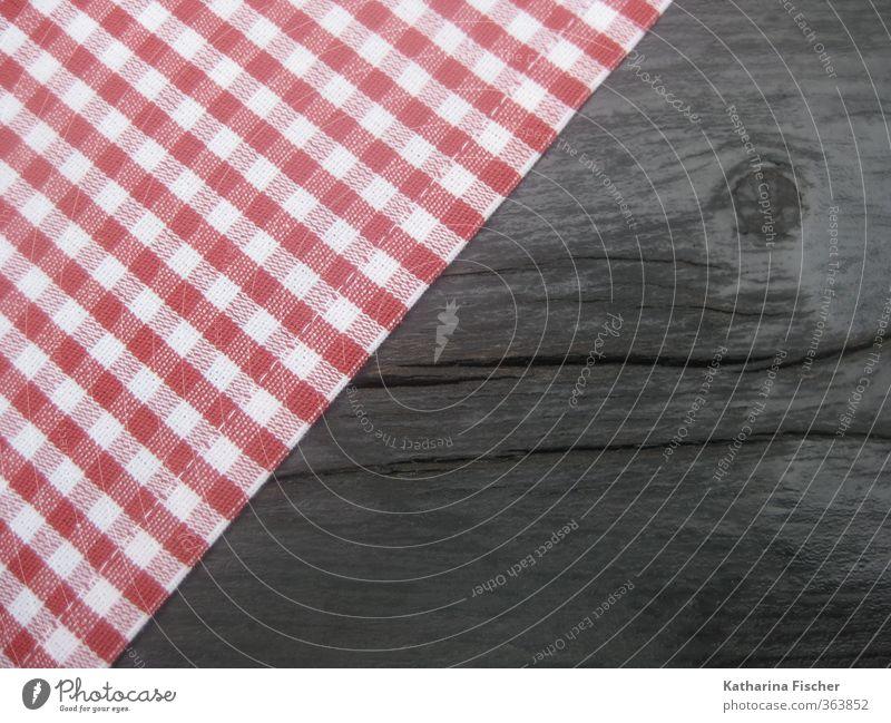 kleinkariert Ernährung Feste & Feiern Oktoberfest Jahrmarkt Holz braun rot schwarz weiß Stoff Tisch Tischwäsche Tischplatte Tischdekoration Baumwolle Textilien