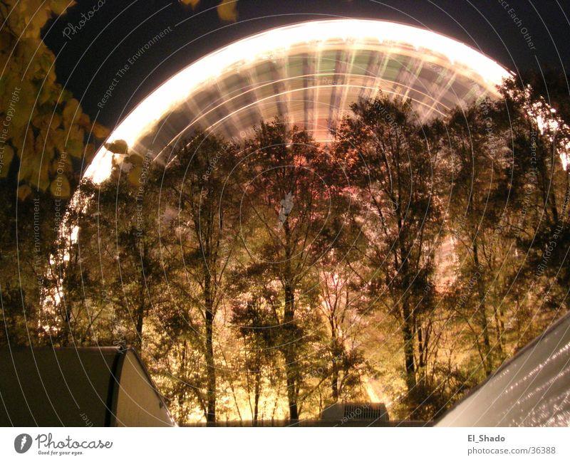 Flying_Circle Baum dunkel Bewegung Freizeit & Hobby Drehung Riesenrad