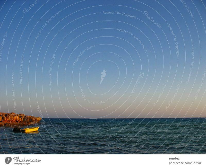 Far Sight Zypern Meer Wasserfahrzeug Europa Idylle Ruderboot