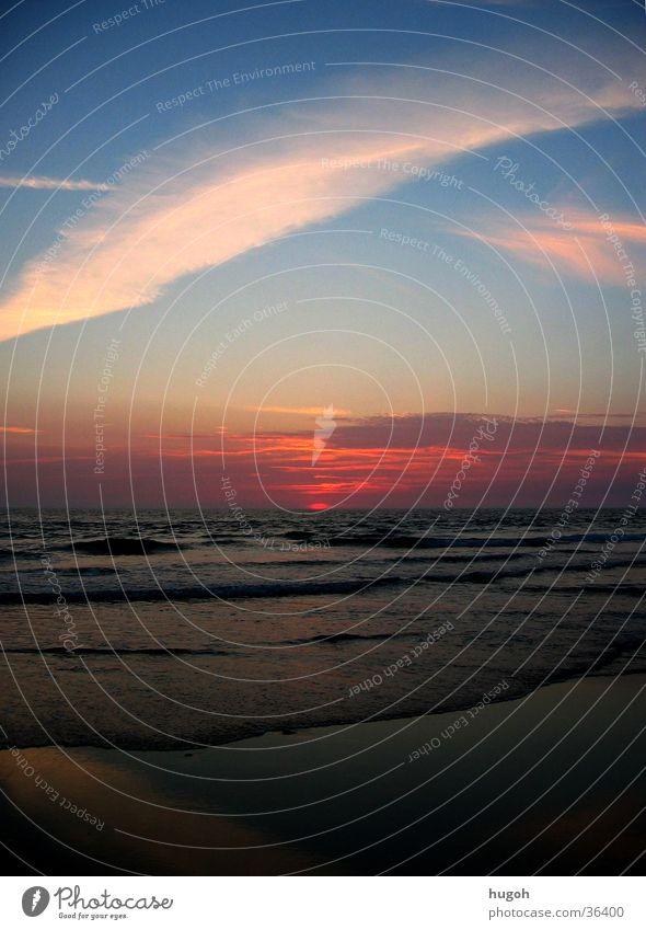 sunset_01 Himmel Sonne Meer Strand Idylle