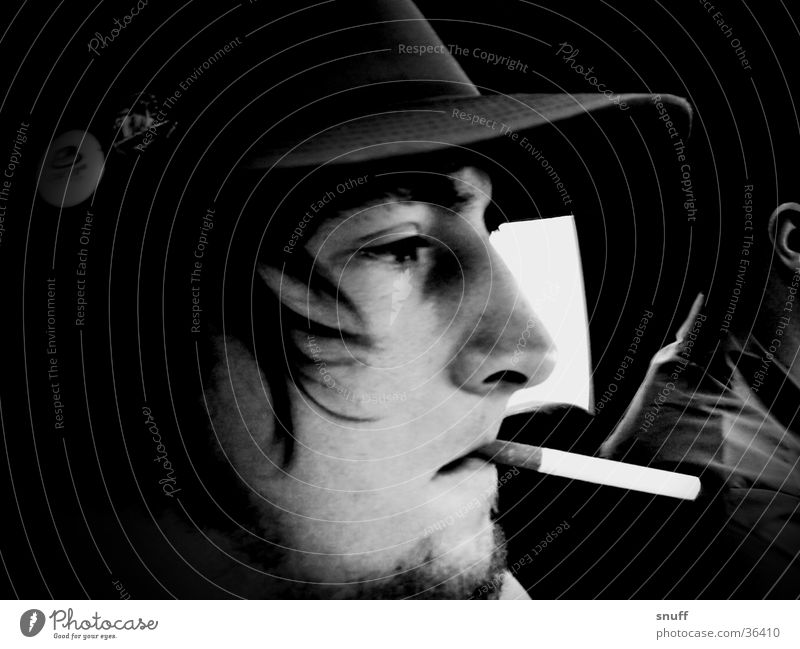 himself Mann PKW Rauchen Baseballmütze