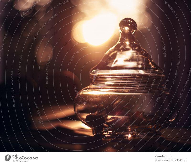 Omas altes Bonbonglas Süßwaren Geschirr Schalen & Schüsseln Glas Bonboniere leuchten streichen schön Stimmung Erbe Warmherzigkeit Erinnerung Verschlussdeckel