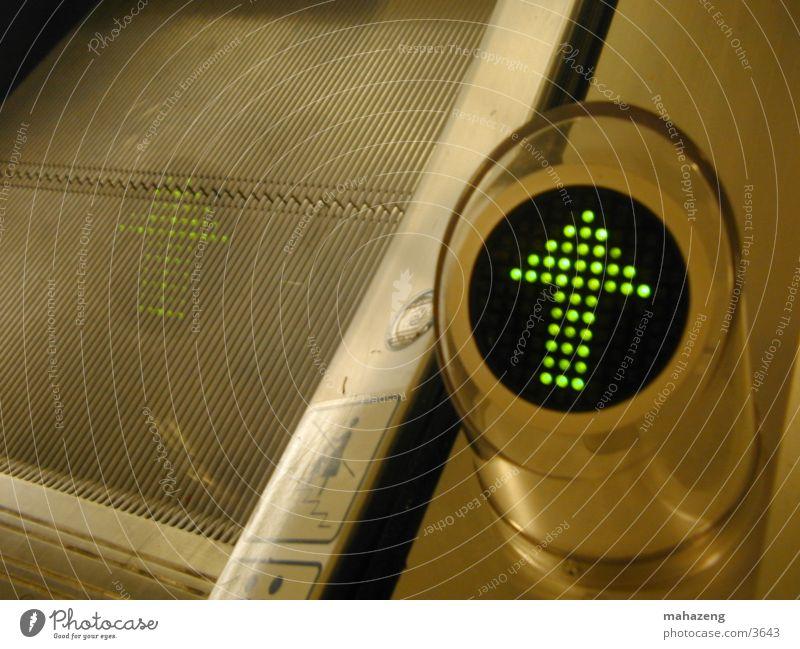 rolltreppe Technik & Technologie Pfeil Anzeige Schilder & Markierungen Rolltreppe Elektrisches Gerät