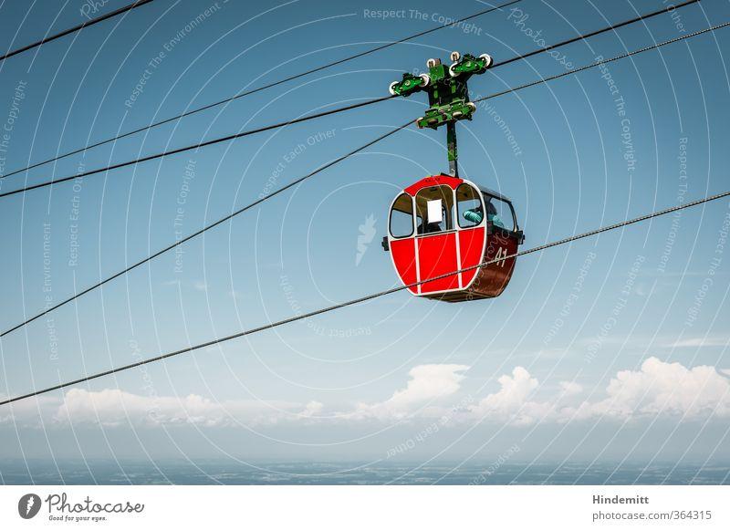 AST6 Inntal   Unterwegs ... Himmel Ferien & Urlaub & Reisen blau grün Sommer rot Wolken schwarz Berge u. Gebirge Wärme Glück oben außergewöhnlich Wetter hoch Schönes Wetter