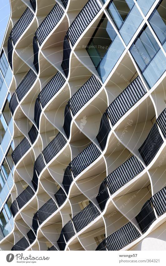 Wabenkasten Magdeburg Deutschland Sachsen-Anhalt Europa Stadt Stadtzentrum Menschenleer Haus Gebäude Architektur Plattenbau Balkon Fenster Häusliches Leben