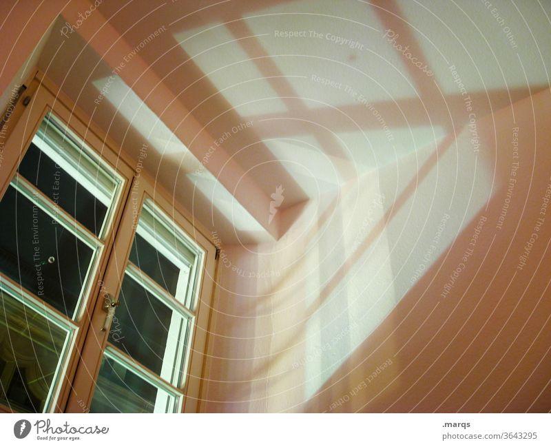 Mondschein im Altbau Nacht Fenster wohnen Wohnung Wohnungssuche Einsamkeit leer WG-Zimmer Wohnungssituation wohnungsmarkt Wohnungsnot Schatten Perspektive Ruhe