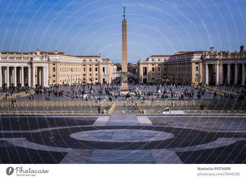 Quadratmeter Petersbasilika Ferien & Urlaub & Reisen Basilika Kirche Italien Rom Religion & Glaube Architektur Vatikan Christentum historisch Katholizismus