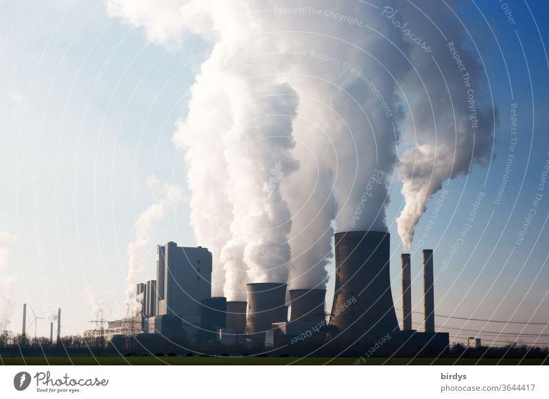 Braunkohlenkraftwerk Niederaußem in NRW Braunkohlekraftwerk Kraftwerk Kühltürme Energiewende Energiewirtschaft Strom Stromgewinnung Umweltbelastung Umweltschutz