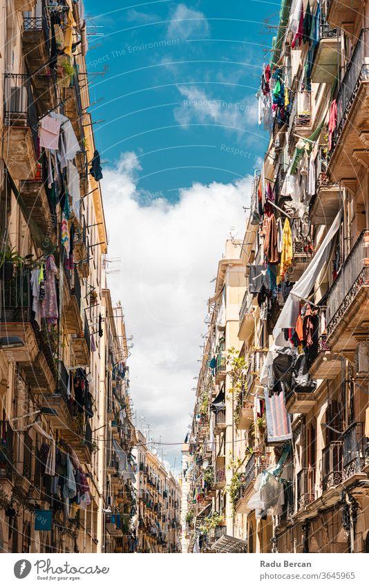 Architektur des gotischen Viertels in der Stadt Barcelona, Spanien Spanisch Wahrzeichen Europa architektonisch Katalonien Straße urban antik Balkon Fassade