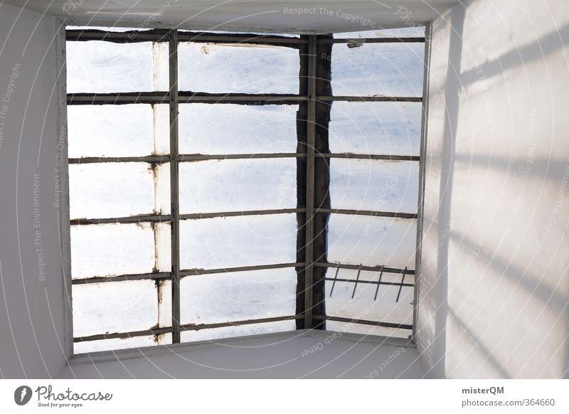Roof Window. Kunst ästhetisch Zufriedenheit Autofenster Abteilfenster Fensterblick Dachfenster Portugal Symmetrie Architektur Haus Licht Farbfoto