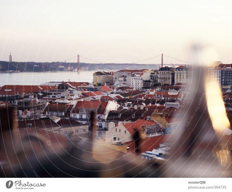 Portuguese Dinner. Kunst ästhetisch Lissabon Portugal Hauptstadt Stadt mediterran Grossstadtromantik Flasche Brücke Golden Gate Bridge Ferien & Urlaub & Reisen