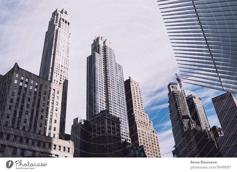 Erstaunlicher Blick auf die Wolkenkratzer von New York City in Downtown Manhattan amerika USA nyc Amerikaner Wahrzeichen Kaiserreich Architektur urban