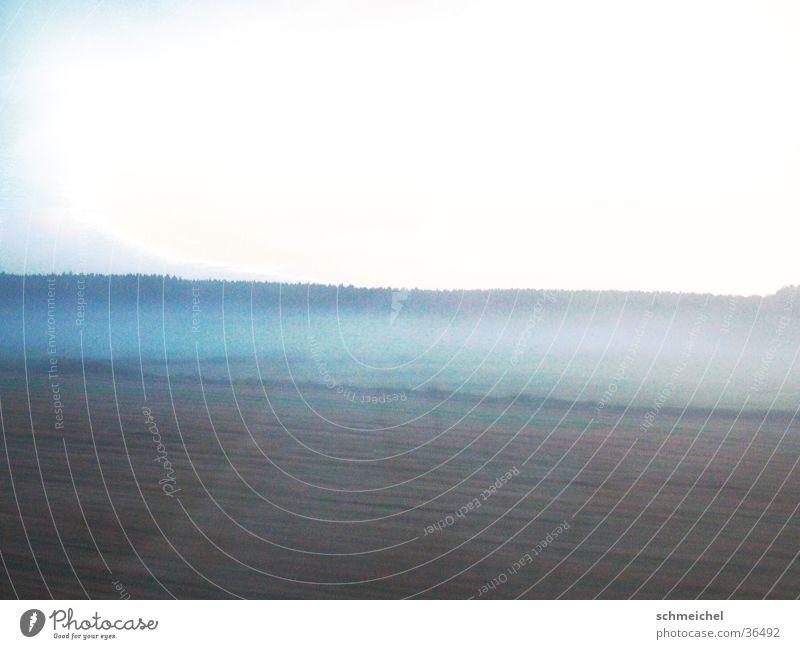 Morgennebel Einsamkeit Ferne träumen Feld Nebel karg