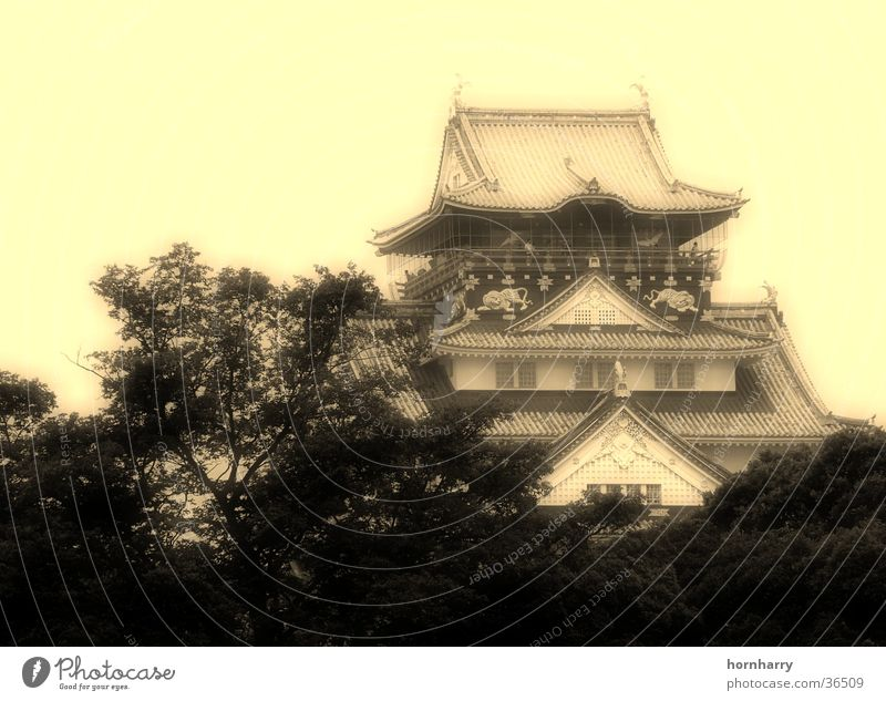Osaka Schloss Haus Architektur Dach Burg oder Schloss Japan Tempel Pagode