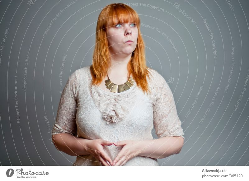 Evil Chancelorette Mensch Frau Jugendliche Junge Frau Erwachsene 18-30 Jahre Denken Business Erfolg verrückt Kommunizieren bedrohlich Macht planen stark gruselig