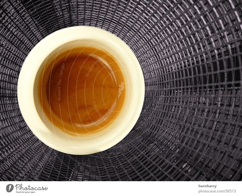 Espresso spezial braun Kaffee Bar Italien Café Tasse genießen Bohnen