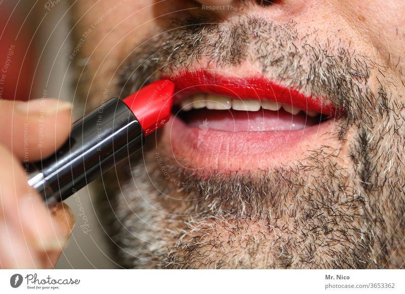 HAPPY BIRTHDAY PHOTOCASE zum 19ten !!  I extra schick machen Lippen Lippenstift Körperpflege Mund maskulin außergewöhnlich Kosmetik rot Bart trendy