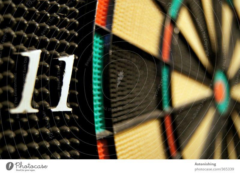 ELF grün weiß rot Freude schwarz gelb Sport Spielen Freizeit & Hobby Zufriedenheit Erfolg Kreis Ziffern & Zahlen Zeichen Punkt Kunststoff