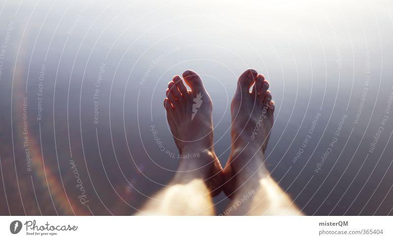 bare feet. Kunst ästhetisch Zufriedenheit Barfuß Fuß Füße hoch Ferien & Urlaub & Reisen Freiheit Urlaubsfoto Urlaubsort Urlaubsstimmung Urlaubsgrüße Seeufer