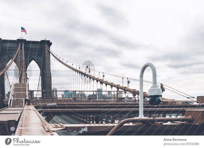 Einzelheiten zur Brooklyn Bridge in New York City Manhattan amerika USA nyc Amerikaner Wahrzeichen Kaiserreich Architektur Details urban Stadtzentrum Stadtmitte