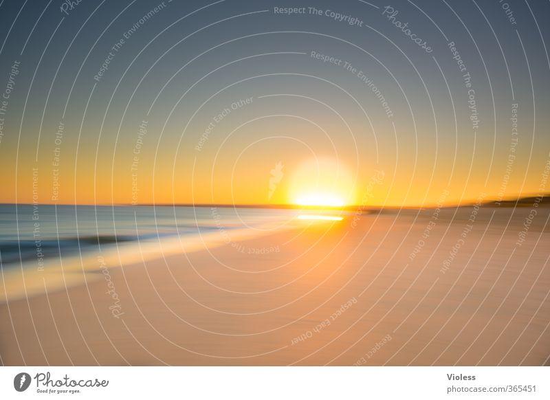 hot summer Sonne Sonnenaufgang Sonnenuntergang Sonnenlicht Sommer Schönes Wetter Wellen Küste Strand Meer Erholung Kitsch Freude Ferien & Urlaub & Reisen