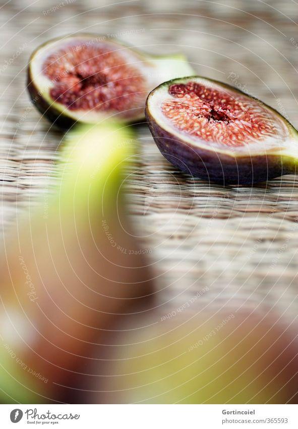 Feigenhälften Lebensmittel Frucht Ernährung Bioprodukte Vegetarische Ernährung Diät Slowfood frisch lecker süß fruchtig Farbfoto Innenaufnahme