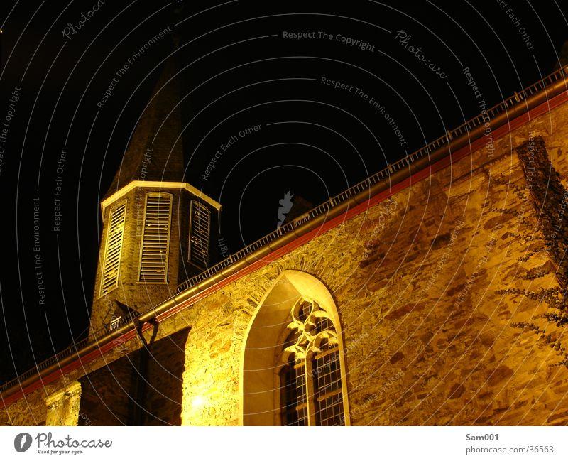 Kirche bei Nacht alt Gebäude Religion & Glaube Christentum Islam Gotteshäuser