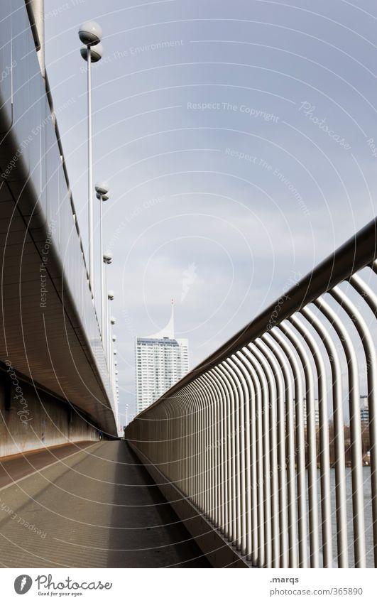 Vienna Himmel Haus Wege & Pfade Architektur Gebäude Stil Design Zukunft Brücke Unendlichkeit Ziel Bauwerk Laterne Brückengeländer Österreich Wien
