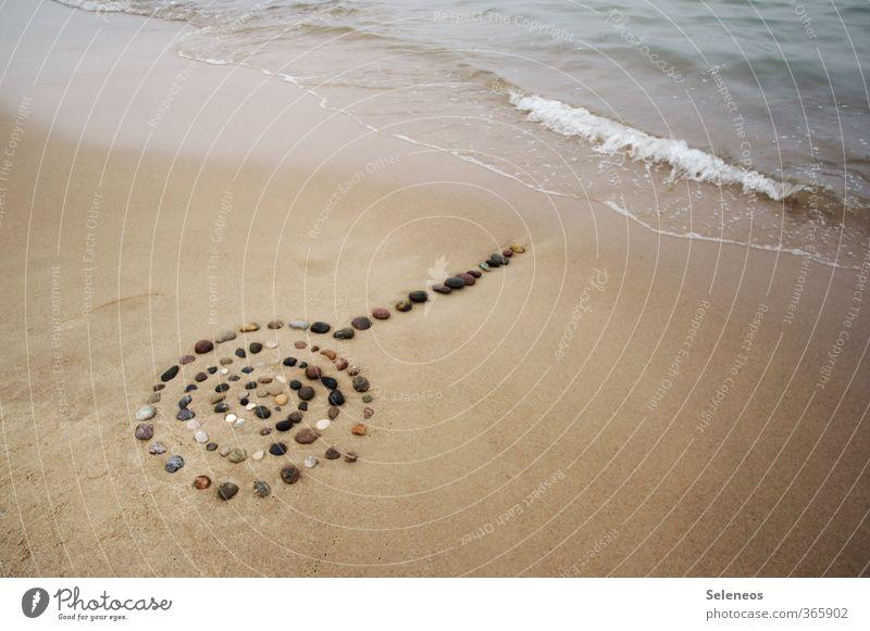 Ruhe bewahren harmonisch Wohlgefühl Zufriedenheit Sinnesorgane Erholung ruhig Meditation Ferien & Urlaub & Reisen Ausflug Meer Wellen Umwelt Natur Wasser Küste