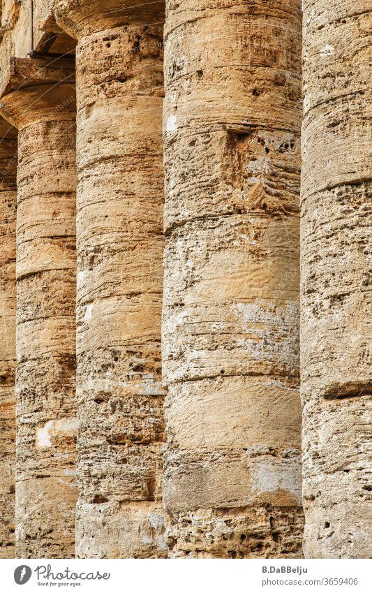 Die mächtigen Säulen des Tempels von Segesta stehen seit 2400 Jahren in der sizilianischen Sonne und über den Zweck rätseln die Experten. Italien Sizilien