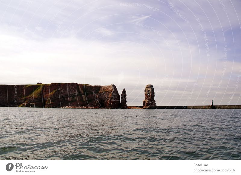 Eine Seefahrt die ist lustig, hmhmhmhmhmhmhmmmmm - oder die Fotoline macht trällernd eine Inselrundfahrt um Helgoland. Eine halbe Stunde vor Ankunft hat sie dann nicht mehr getrellert, ihr war übel!