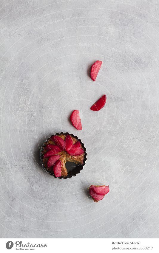 Obstkuchen auf dem Tisch Frucht Pasteten Kuchen sortiert verschiedene lecker Bäckerei reif schmackhaft frisch Lebensmittel Dessert süß organisch Ordnung