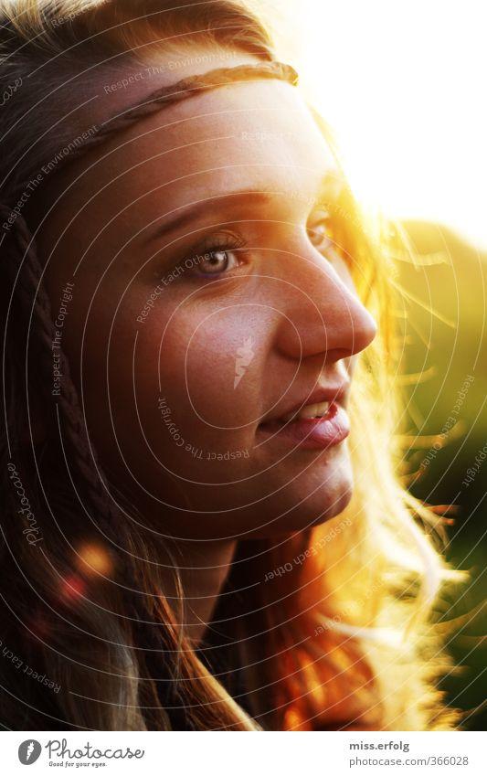Wünsch dir was. Mensch Frau Kind Jugendliche Ferien & Urlaub & Reisen grün Junge Frau 18-30 Jahre Erwachsene gelb Auge Leben feminin Haare & Frisuren Stil
